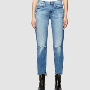 NWT Frame Denim Le High Straight Rvse Cascade Hem